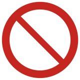 Ogólny znak zakazu - znak bhp zakazujący - GAP001 - Znaki BHP w miejscu pracy (norma PN-93/N-01256/03)
