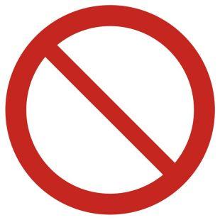 Ogólny znak zakazu - znak bhp zakazujący - GAP001