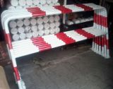 Ogrodzenie segmentowe barierka na stopie do przykręcenia U-12a biało-czerwona - Ogrodzenia U-12