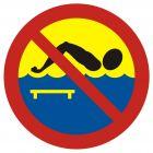 OH011 - Kąpiel zabroniona - most - znak, kąpieliska