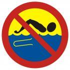 OH016 - Kąpiel zabroniona - woda skażona - znak, kąpieliska