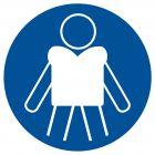 OH020 - Nakaz zakładania kamizelek ratunkowych - znak, kąpieliska