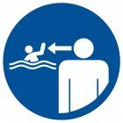 OH021 - Nakaz ustawicznego nadzoru nad dziećmi - znak, kąpieliska