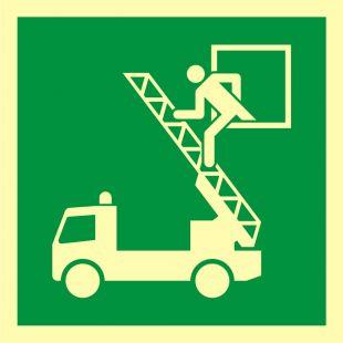 Okno ratunkowe - znak ewakuacyjny - AAE017
