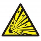 Ostrzeżenie- materiał wybuchowy - znak bhp ostrzegający - GDW002