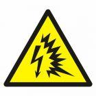 Ostrzeżenie przed błyskiem łukowym - znak bhp ostrzegający - GDW042