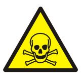 Ostrzeżenie przed materiałami toksycznymi - Magazynowanie odpadów medycznych