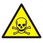 Ostrzeżenie przed materiałami toksycznymi - znak bhp ostrzegający - GDW016