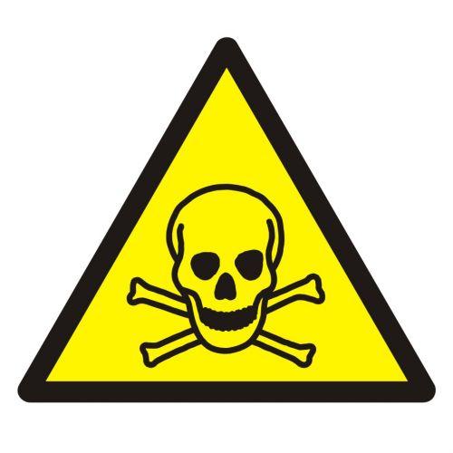 Ostrzeżenie przed materiałami toksycznymi - znak bhp ostrzegający - GDW016 - Szkodliwe czynniki chemiczne w miejscu pracy