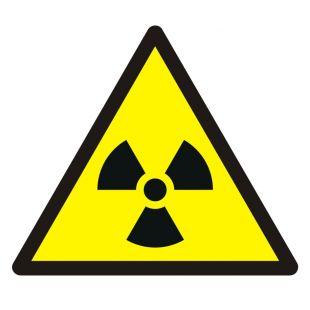 Ostrzeżenie przed materiałem radioaktywnym lub promieniowaniem jonizującym - znak bhp ostrzegający - GDW003