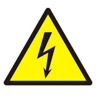 Ostrzeżenie przed napięciem elektrycznym - znak bhp ostrzegający - GDW012