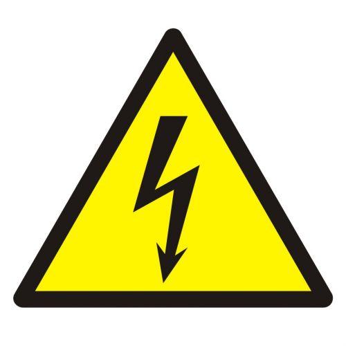 Ostrzeżenie przed napięciem elektrycznym - znak bhp ostrzegający - GDW012 - Odzież dla elektryków