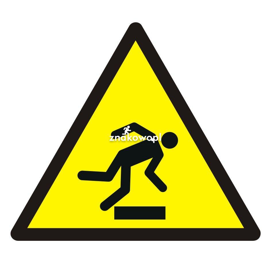 Ostrzeżenie przed niebezpieczeństwem potknięcia się - Plac budowy – znaki i tablice