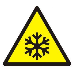 Ostrzeżenie przed niską temperaturą / warunkami zamarzania - znak bhp ostrzegający - GDW010