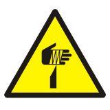 Ostrzeżenie przed ostrymi elementami - znak bhp ostrzegający - GDW022 - Oznakowanie zagrożeń w zakładzie pracy i drogi ewakuacyjne