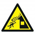 Ostrzeżenie przed osuwającym się śniegiem z dachu - znak bhp ostrzegający - GDW040