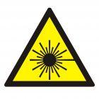 Ostrzeżenie przed promieniami laserowymi - znak bezpieczeństwa, ostrzegający, laser - KB001
