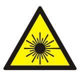 Ostrzeżenie przed promieniami laserowymi - znak bezpieczeństwa, ostrzegający, laser - KB001 - Instruktaż stanowiskowy BHP – ramowy plan szkolenia