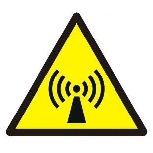 Ostrzeżenie przed promieniowaniem niejonizującym - znak bhp ostrzegający - GDW005