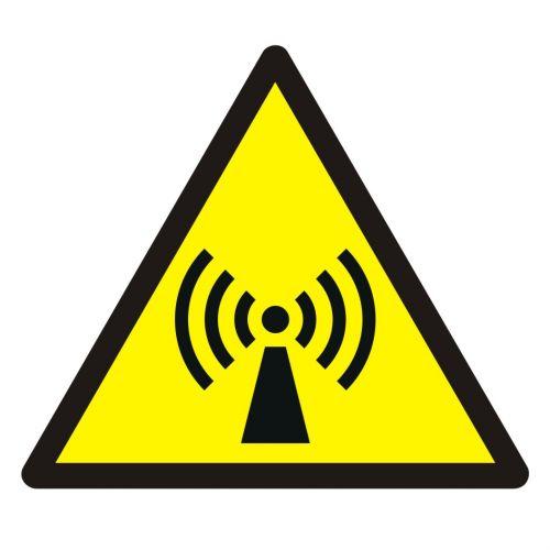 Ostrzeżenie przed promieniowaniem niejonizującym - znak bhp ostrzegający - GDW005 - Odzież chroniąca przed polem elektromagnetycznym
