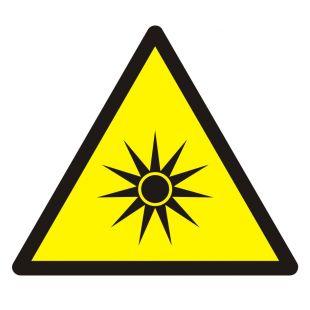 Ostrzeżenie przed promieniowaniem optycznym - znak bhp ostrzegający - GDW027