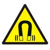 Ostrzeżenie przed silnym polem magnetycznym - znak bhp ostrzegający - GDW006 - Promieniowanie elektromagnetyczne – BHP i znaki