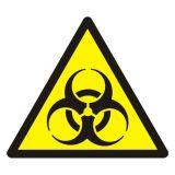 Ostrzeżenie przed skażeniem biologicznym - znak bhp ostrzegający - GDW009 - Znaki BHP w miejscu pracy (norma PN-93/N-01256/03)