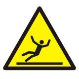 Ostrzeżenie przed śliską powierzchnią - znak bhp ostrzegający - GDW011 - BHP na halach produkcyjnych