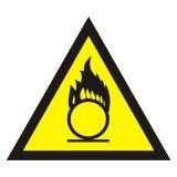 Ostrzeżenie przed substancjami o właściwościach utleniających - znak bezpieczeństwa, ostrzegający - JA017 - Substancje ciekłe utleniające