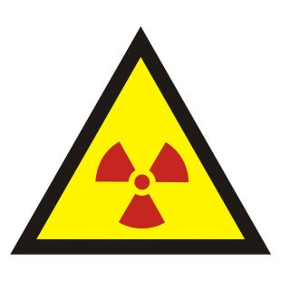 Ostrzeżenie przed substancjami promieniotwórczymi - znak bezpieczeństwa, ostrzegający - JA005