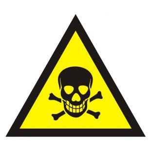 Ostrzeżenie przed substancjami toksycznymi - znak bezpieczeństwa, ostrzegający - JA001