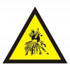 Ostrzeżenie przed substancjami wybuchowymi - znak bezpieczeństwa, ostrzegający - JA004