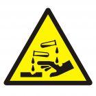 Ostrzeżenie przed substancjami żrącymi - znak bhp ostrzegający - GDW023