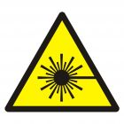 Ostrzeżenie przed wiązką laserową - znak bhp ostrzegający - GDW004