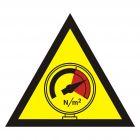 Ostrzeżenie przed wysokim ciśnieniem - znak bezpieczeństwa, ostrzegający - JA006