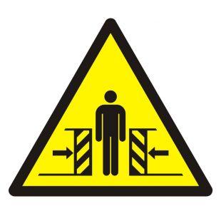 Ostrzeżenie przed zgnieceniem bocznym - znak bhp ostrzegający - GDW019