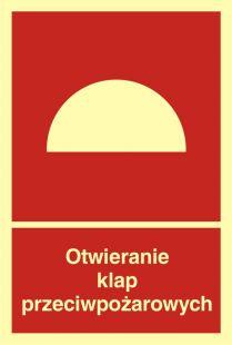 Otwieranie klap przeciwpożarowych - znak przeciwpożarowy ppoż - BB010