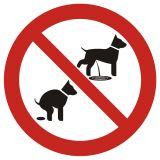 PA021 - Zakaz wyprowadzania psów 2 - znak informacyjny - Regulamin placu zabaw