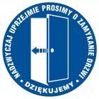 PA026 - Prosimy o zamykanie drzwi - znak informacyjny