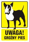 PA036 - Uwaga! Groźny pies 1 - znak informacyjny