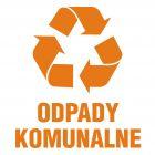 PA056 - Odpady komunalne 1 - znak informacyjny, segregacja śmieci