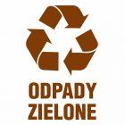 PA065 - Odpady zielone - znak informacyjny, segregacja śmieci