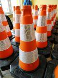 Pachołek drogowy ostrzegawczy 50cm U-23c, PCV, ciężki solidny 2,5kg - Urządzenia BRD do zabezpieczania robót drogowych