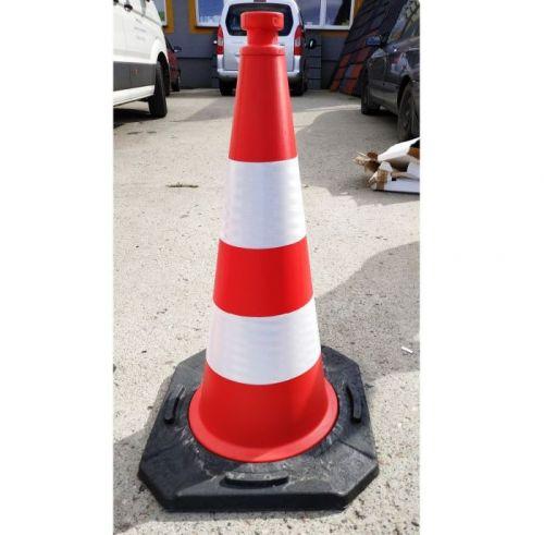 Pachołek drogowy ostrzegawczy 50cm U-23c, PCV, ciężki solidny 2,5kg - Pachołki drogowe