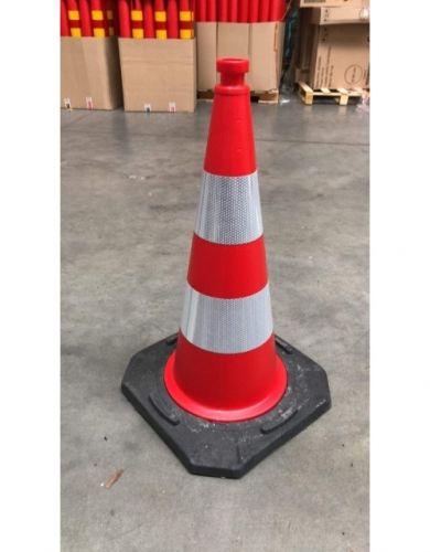 Pachołek drogowy ostrzegawczy 75cm U-23b, PCV, ciężki solidny 5,6kg - Pachołki drogowe