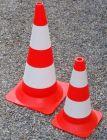 Pachołek drogowy ostrzegawczy 75cm U-23b, PCV, lekki 3,8kg