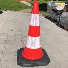 Pachołek drogowy ostrzegawczy U-23a 100cm, PCV, ciężki solidny 6kg