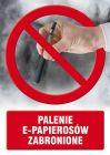 Palenie e-papierosów zabronione - znak informacyjny - PC515