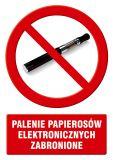 Palenie papierosów elektronicznych zabronione - znak informacyjny - PC511 - Palenie tytoniu – gdzie obowiązuje zakaz, a gdzie wolno palić?