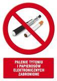 Palenie tytoniu i papierosów elektronicznych zabronione - znak informacyjny - PC512 - Obiekty handlowe – znaki bezpieczeństwa i tablice informacyjne